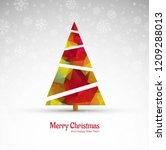 beautiful merry christmas... | Shutterstock .eps vector #1209288013
