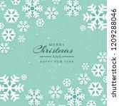 beautiful festival merry... | Shutterstock .eps vector #1209288046
