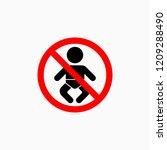 no baby icon | Shutterstock .eps vector #1209288490