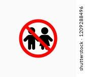 not for children icon   Shutterstock .eps vector #1209288496