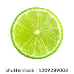 juicy slice of lime isolated on ... | Shutterstock . vector #1209289003