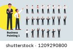business men pointing index... | Shutterstock .eps vector #1209290800