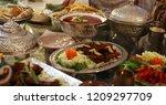 dinner food biryani | Shutterstock . vector #1209297709