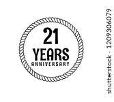 21 years anniversary... | Shutterstock .eps vector #1209306079