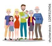 happy big family portrait. mom... | Shutterstock .eps vector #1209315406