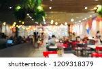 blur restaurant or coffee shop... | Shutterstock . vector #1209318379