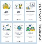 vector set of mobile app... | Shutterstock .eps vector #1209321766