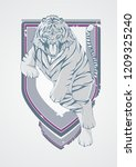 a crest of mighty tiger... | Shutterstock .eps vector #1209325240
