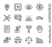 financial technology icons | Shutterstock .eps vector #1209325810
