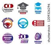 set of vector logos driving... | Shutterstock .eps vector #1209326296