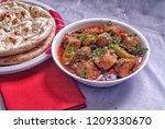 chicken karahi dinner | Shutterstock . vector #1209330670
