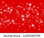 snow flakes falling macro...   Shutterstock .eps vector #1209330709