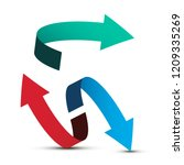 arrows. vector double arrow... | Shutterstock .eps vector #1209335269