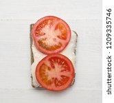 top view of healthy sandwich on ... | Shutterstock . vector #1209335746