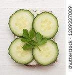 top view of healthy sandwich on ... | Shutterstock . vector #1209337009