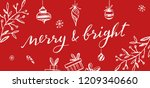 merry and bright vector...   Shutterstock .eps vector #1209340660