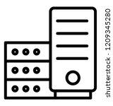 database server icon design | Shutterstock .eps vector #1209345280