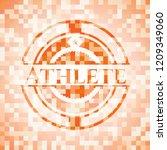 athlete orange tile background...   Shutterstock .eps vector #1209349060