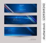abstract banners set with image ... | Shutterstock .eps vector #1209349243