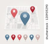mapping pins icon | Shutterstock .eps vector #120935290