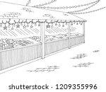 christmas fair street graphic... | Shutterstock .eps vector #1209355996