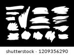 paint drawing set of white... | Shutterstock .eps vector #1209356290