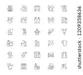 hygiene cleaning line icon set | Shutterstock .eps vector #1209358636