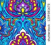 indian ethnic seamless pattern. ... | Shutterstock .eps vector #1209381673