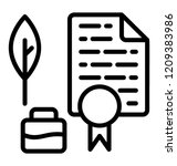 professional certification for... | Shutterstock .eps vector #1209383986