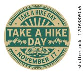 take a hike day  november 17 ... | Shutterstock .eps vector #1209389056