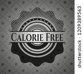 calorie free black badge | Shutterstock .eps vector #1209389563