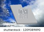 utah inscription on sky... | Shutterstock . vector #1209389890