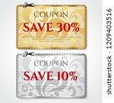 discount coupon  voucher vector.... | Shutterstock .eps vector #1209403516