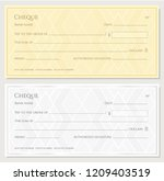cheque  check  chequebook... | Shutterstock .eps vector #1209403519
