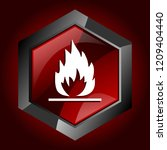 danger fire flame flammable... | Shutterstock .eps vector #1209404440