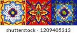 mexican talavera ceramic tile... | Shutterstock .eps vector #1209405313