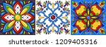 mexican talavera ceramic tile... | Shutterstock .eps vector #1209405316
