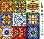mexican talavera ceramic tile... | Shutterstock .eps vector #1209405319