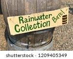 old wooden rainwater collection ... | Shutterstock . vector #1209405349