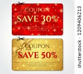 discount coupon  voucher vector.... | Shutterstock .eps vector #1209406213