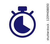 stopwatch vector icon. | Shutterstock .eps vector #1209408850