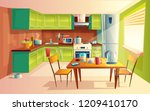 cartoon illustration of cozy... | Shutterstock . vector #1209410170