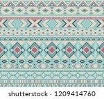 navajo american indian pattern... | Shutterstock .eps vector #1209414760