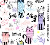 vector seamless pattern with...   Shutterstock .eps vector #1209416113