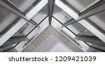 fragment of office building... | Shutterstock . vector #1209421039