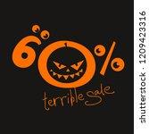 terrible sale 60   off. orange... | Shutterstock .eps vector #1209423316