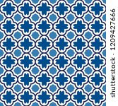 oriental traditional pattern.... | Shutterstock .eps vector #1209427666