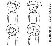 vector set of student | Shutterstock .eps vector #1209433633
