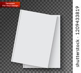 blank book cover on transparent ... | Shutterstock .eps vector #1209433819