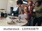 software engineers working... | Shutterstock . vector #1209433879